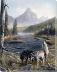 Vantage Point Wolves II Wrapped Canvas Giclee Print Wall Art
