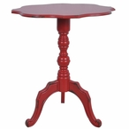 Venetian Antique Red Wood Accent Table