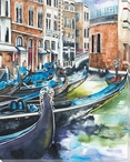Venice Boats 1 Wrapped Canvas Giclee Print Wall Art