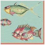Very Fishy with Edge Abstract Fish Vintage Style Metal Sign