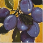 Vibrant Fruit Plums I Wrapped Canvas Giclee Print Wall Art