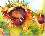 Vibrant Sunflowers Wrapped Canvas Giclee Print Wall Art