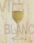 Vin Blanc White Wine Wrapped Canvas Giclee Print Wall Art