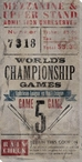 Vintage Baseball Game 5 Tickets Wrapped Canvas Giclee Print