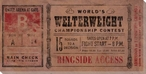Vintage Boxing Tickets Welterweight Wrapped Canvas Giclee Print