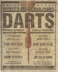 Vintage Darts Tournament Ad Wrapped Canvas Giclee Print Wall Art
