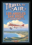 Vintage L.A. to San Diego Framed Travel Poster Art Print Wall Art