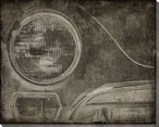 Vintage Roadster Detail Headlight with Bumper Wrapped Canvas Print