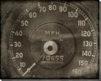 Vintage Roadster Detail MPH Gauge Wrapped Canvas Giclee Print Wall Art