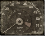Vintage Roadster Detail RPM Gauge Wrapped Canvas Giclee Print Wall Art
