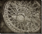 Vintage Roadster Detail Wheel Wrapped Canvas Giclee Print Wall Art