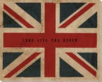 Vintage Union Jack British Flag Wrapped Canvas Giclee Print