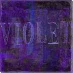 """Violet"" Block Wrapped Canvas Giclee Print Wall Art"