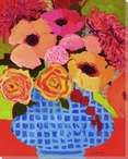 Vivid Still Flowers 1 Wrapped Canvas Giclee Print Wall Art