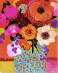 Vivid Still Flowers 2 Wrapped Canvas Giclee Print Wall Art
