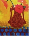 Vivid Still Flowers 3 Wrapped Canvas Giclee Print Wall Art