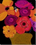 Vivid Still Flowers 5 Wrapped Canvas Giclee Print Wall Art