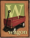W for Wagon Wrapped Canvas Giclee Print Wall Art