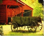 Wagon at Rest Wrapped Canvas Giclee Print Wall Art