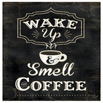 Wake Up Smell the Coffee Absorbent Beverage Coasters, Set of 8