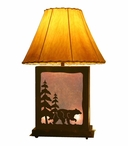 Walking Bear Scenic Metal Table Lamp with Night Light