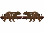 Walking Black Bear Metal Curtain Rod Holders