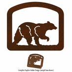 Walking Black Bear Metal Napkin Holder