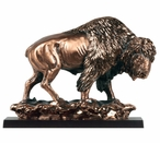 Walking Buffalo Large Statue - Copper Finish