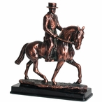Walking Spanish Horse with Rider Statue - Antique Bronze Finish