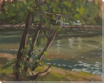 Warm Light on the White River Wrapped Canvas Giclee Print Wall Art