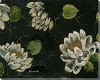 Water Lilies 1 Wrapped Canvas Giclee Print Wall Art