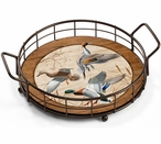 Waterfowl Ducks Metal and Wood Serving Trays, Set of 2