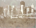 Waterfront Skyline Cityscape 1 Wrapped Canvas Giclee Print