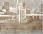 Waterfront Skyline Cityscape 2 Wrapped Canvas Giclee Print