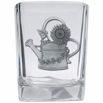 Watering Can Pewter Accent Shot Glasses, Set of 4