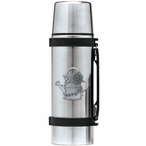 Watering Can Stainless Steel Thermos with Pewter Accent