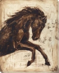 Weathered Equestrian Horse II Wrapped Canvas Giclee Print Wall Art