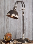 Weathered Rustic Brown Hampstead Adjustable Metal Desk Lamp