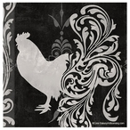 Weathervane Rooster Bird Absorbent Coasters by Color Bakery, Set of 8