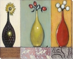 Weekend Plans Three Vases Wrapped Canvas Giclee Print Wall Art