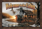 Welcome to the Cabin Framed Wall Mirror