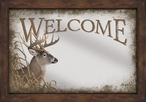 Welcome Whitetail Deer Framed Wall Mirror