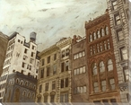 West Village Cityscape II Wrapped Canvas Giclee Print Wall Art