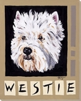Westie Dog Wrapped Canvas Giclee Print Wall Art