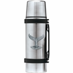 Whale Tail Stainless Steel Thermos with Pewter Accent