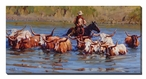When the Water's Deep Cowboy Wrapped Canvas Giclee Print Wall Art