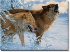 Where There's Smoke, There's Fire Wolves Canvas Giclee Art Print