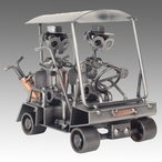 Whimsical Golf Cart Nuts and Bolts Metal Sculpture