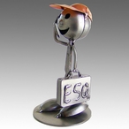 Whimsical Lawyer Attorney Stomper Metal Sculpture