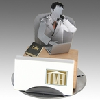 Whimsical Male Attorney Metal Business Card Holder